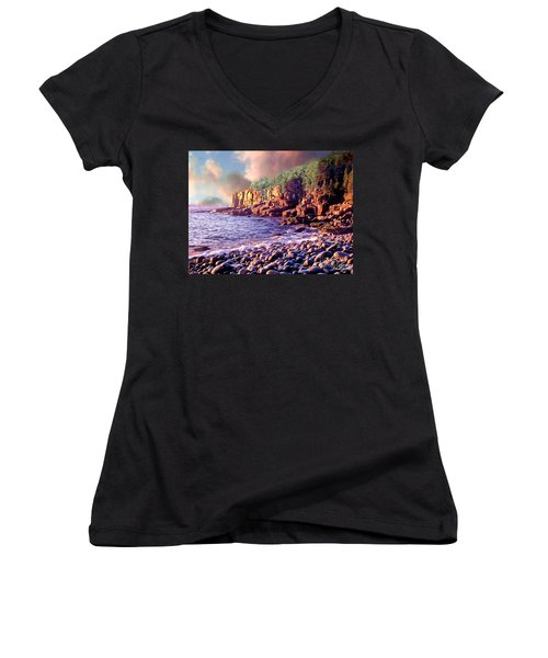 Acadia National Park Women's V-Neck (Athletic Fit)