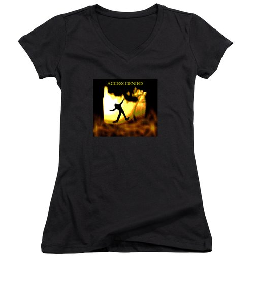 Access Denied Apparel Women's V-Neck (Athletic Fit)