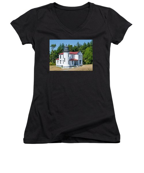 Admiralty Head Lighthouse  Women's V-Neck T-Shirt