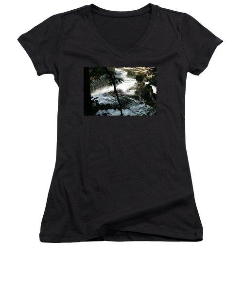 Africa 2 Women's V-Neck T-Shirt (Junior Cut) by Paul SEQUENCE Ferguson             sequence dot net