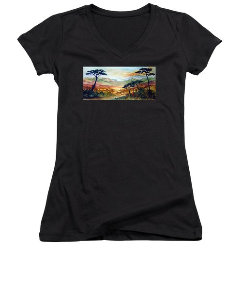 Africa Women's V-Neck (Athletic Fit)