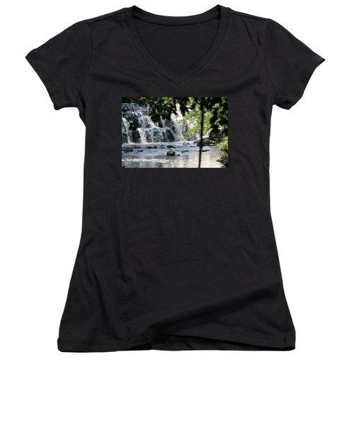 Women's V-Neck T-Shirt (Junior Cut) featuring the photograph Africa by Paul SEQUENCE Ferguson             sequence dot net