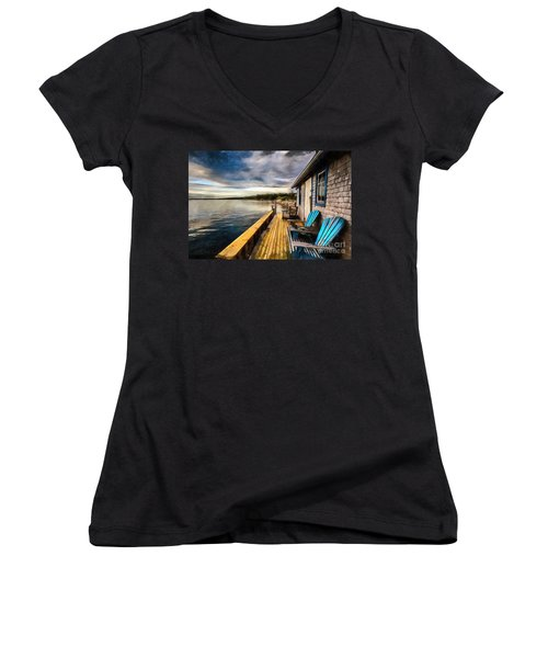 After Sunset Women's V-Neck