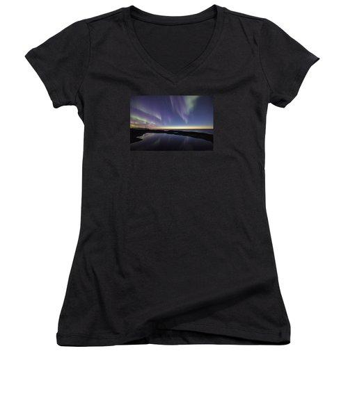 After Sunset Iv Women's V-Neck T-Shirt