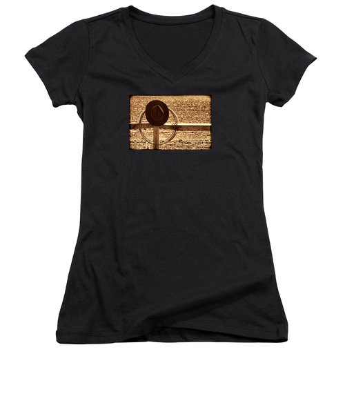 After The Drive Women's V-Neck T-Shirt (Junior Cut) by American West Legend By Olivier Le Queinec