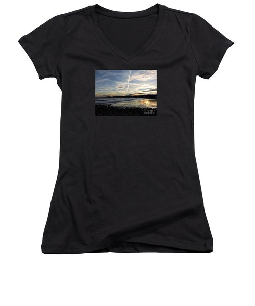 After The Storm In 2016 Women's V-Neck T-Shirt (Junior Cut) by Marcia Lee Jones