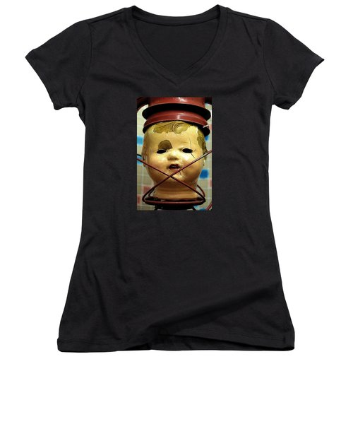 Afterlife 2 Warm Women's V-Neck T-Shirt (Junior Cut) by Newel Hunter