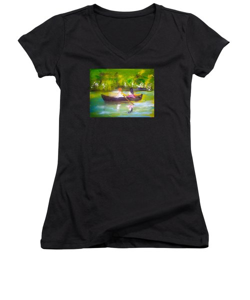 Afternoon By Colleen Ranney Women's V-Neck