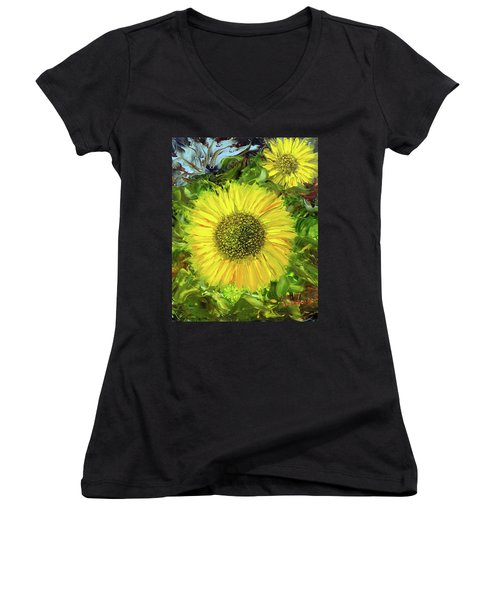 Afternoon Sunflowers Women's V-Neck T-Shirt