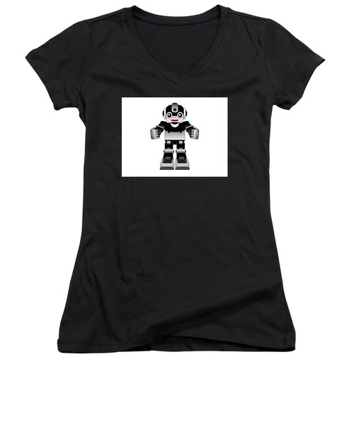 Ai Robot Women's V-Neck (Athletic Fit)