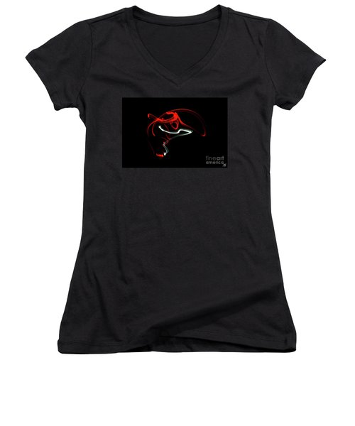 Aikido - Nikyo, Omote Women's V-Neck (Athletic Fit)