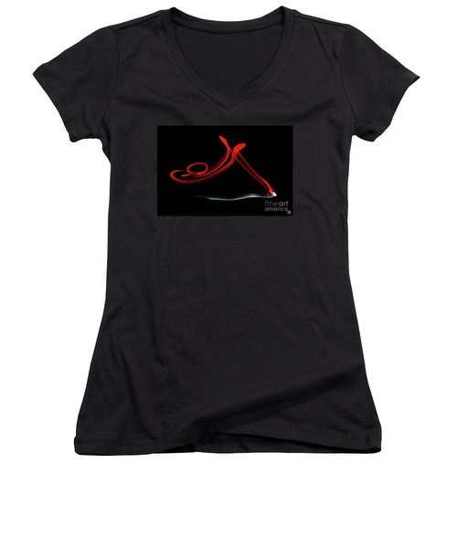 Aikido - Shihonage, Omote Women's V-Neck T-Shirt