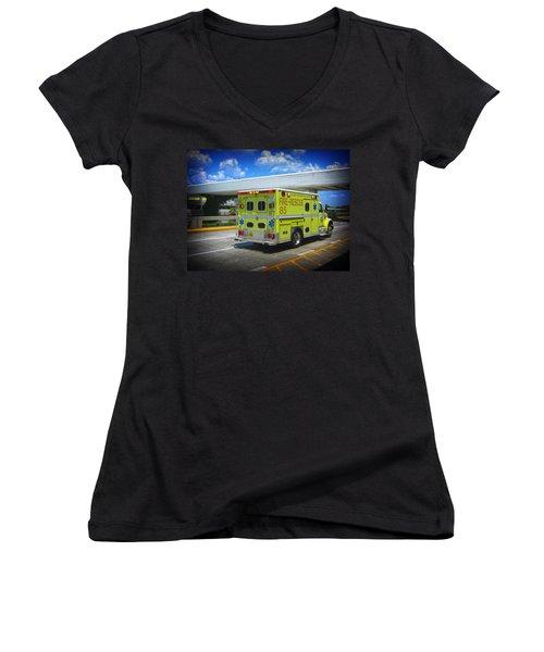 Airport Ambulance Women's V-Neck