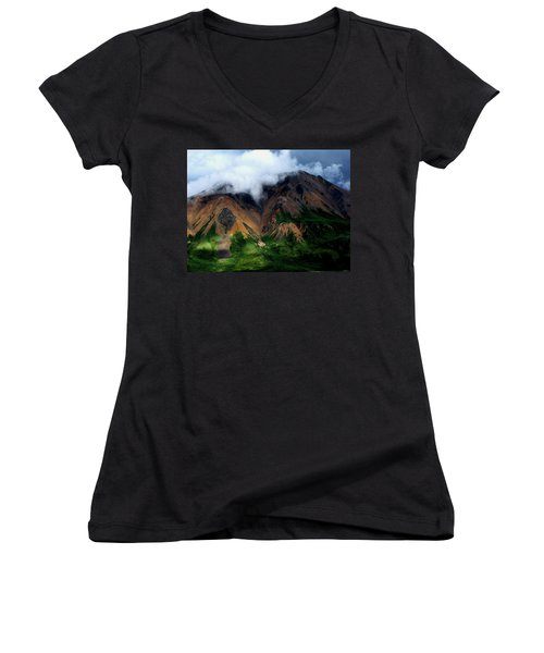 Alaskan Grandeur Women's V-Neck (Athletic Fit)