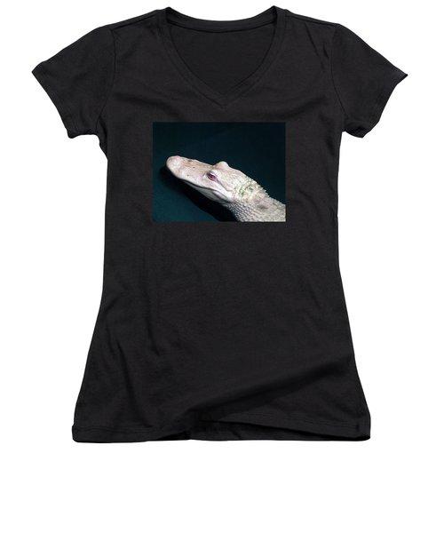 Albino Alligator  Women's V-Neck T-Shirt