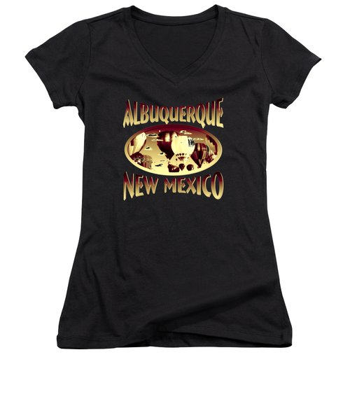 Albuquerque New Mexico Design Women's V-Neck (Athletic Fit)