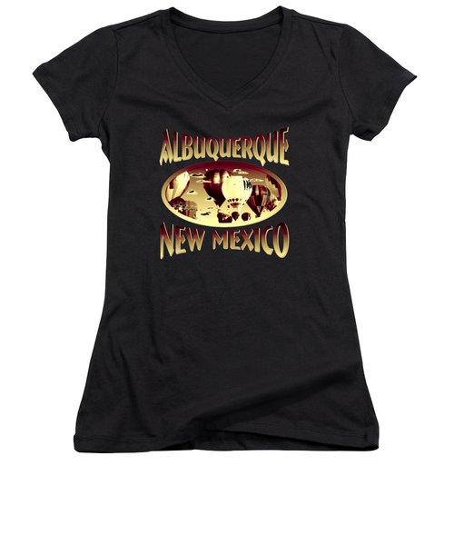 Albuquerque New Mexico Design Women's V-Neck T-Shirt (Junior Cut)