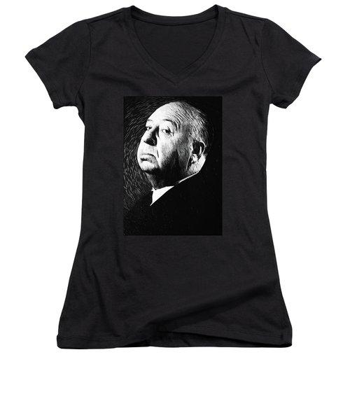Alfred Hitchcock Women's V-Neck T-Shirt