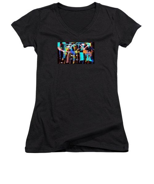 Soul Searching Women's V-Neck T-Shirt (Junior Cut) by Yul Olaivar
