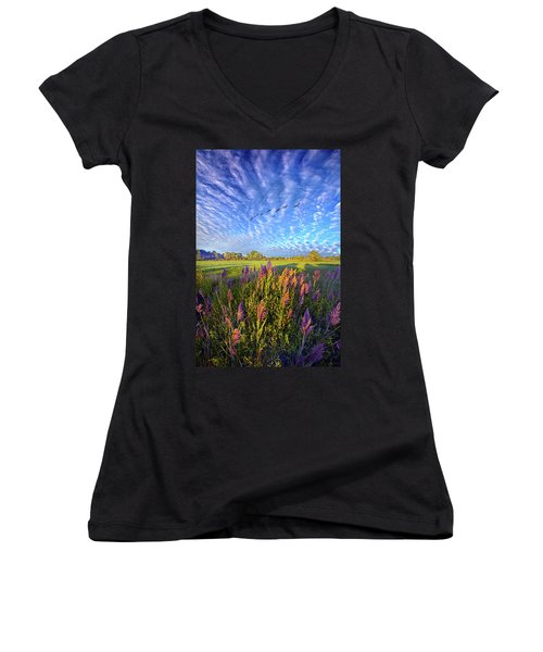 All Things Created And Held Together Women's V-Neck