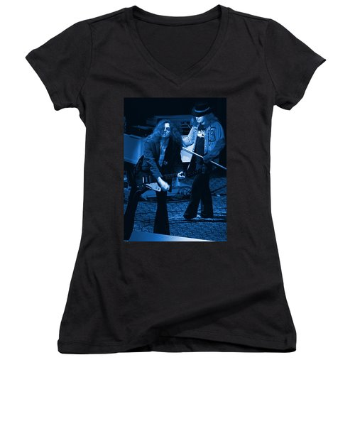 Allen Collins And Ronnie Van Zant Same Old Winterland Blues Women's V-Neck