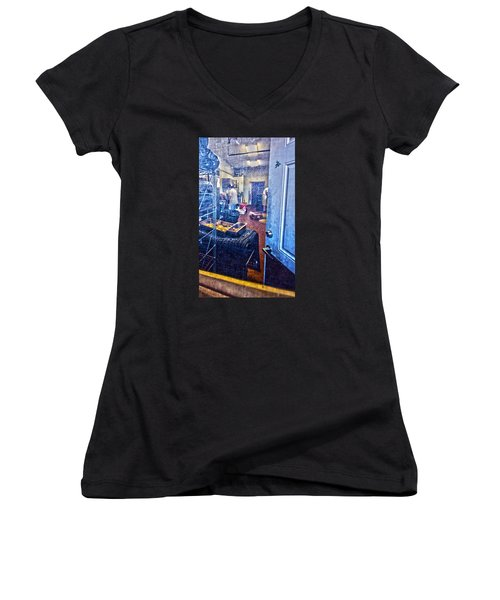Alley Screen Door Women's V-Neck