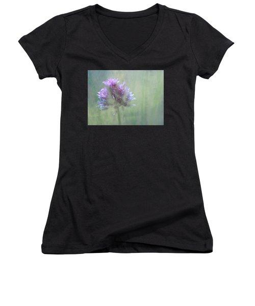 Allium Impressionism Women's V-Neck T-Shirt