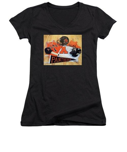 Alma High School Athletics Women's V-Neck T-Shirt