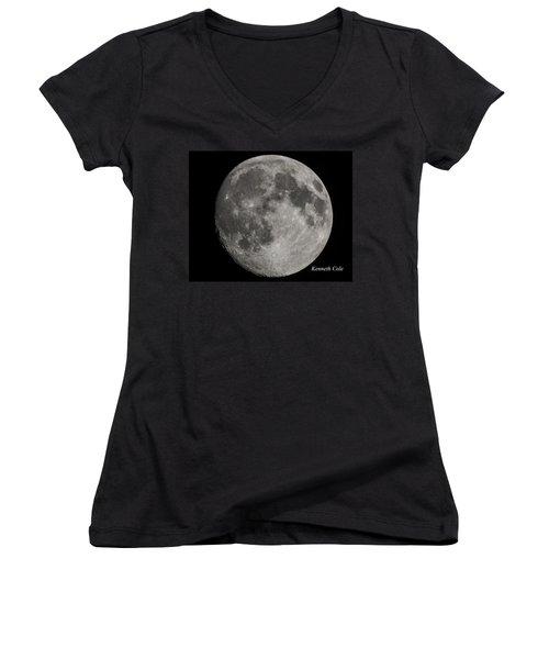 Almost Full Moon Women's V-Neck