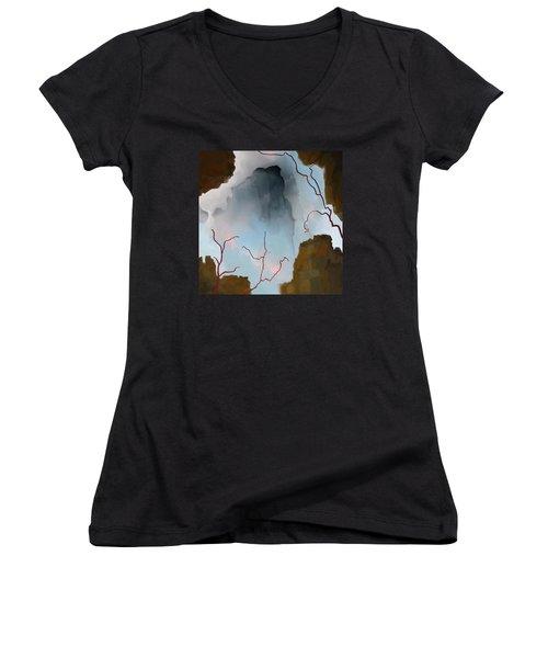 Almost Real Women's V-Neck T-Shirt (Junior Cut) by Constance Krejci