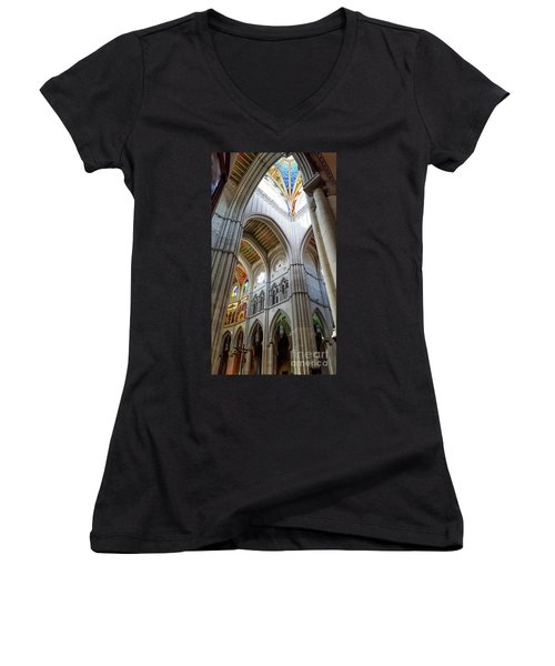 Almudena Cathedral Interior In Madrid Women's V-Neck T-Shirt
