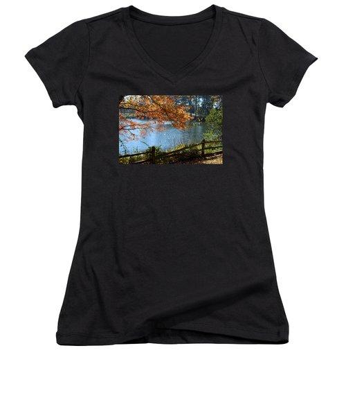 Along The Road Women's V-Neck T-Shirt