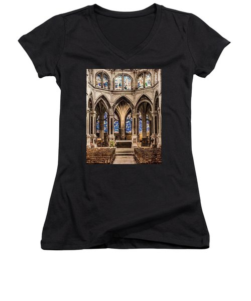 Paris, France - Altar - Saint-severin Women's V-Neck