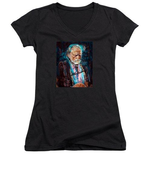 Always On My Mind 2 Women's V-Neck T-Shirt (Junior Cut) by Laur Iduc