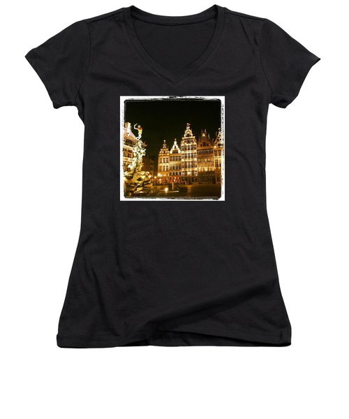 Amazing Romantic Antwerp Women's V-Neck T-Shirt (Junior Cut)