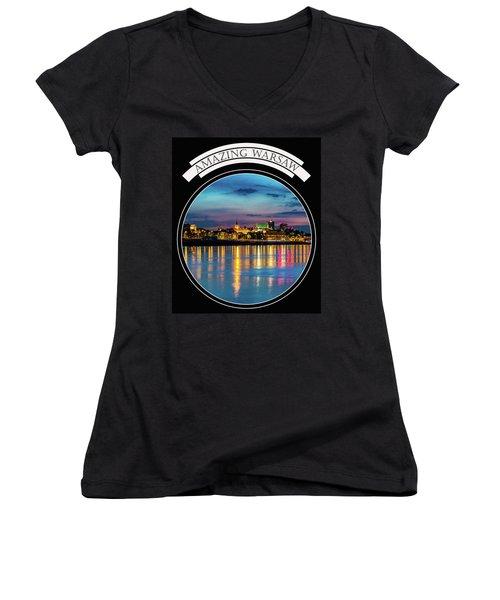 Amazing Warsaw Tee 1 Women's V-Neck T-Shirt
