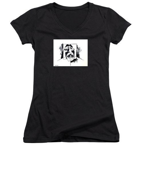Ameeba 106- Old Man Women's V-Neck (Athletic Fit)