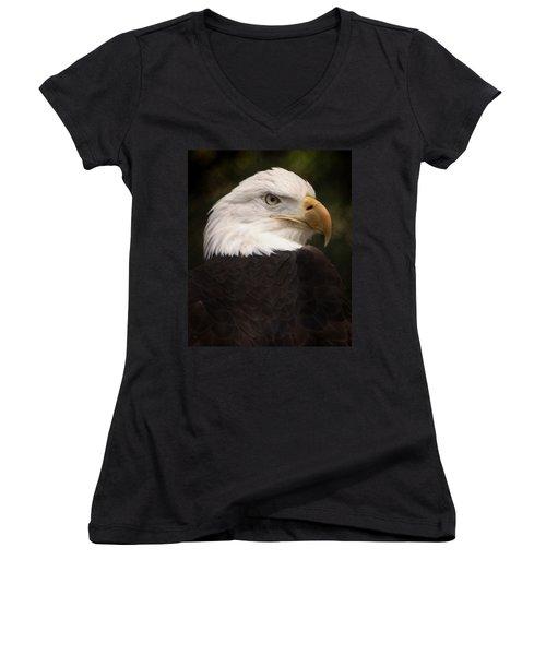 American Bald Eagle Women's V-Neck (Athletic Fit)