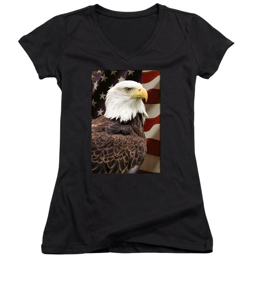 Women's V-Neck featuring the photograph American Freedom by Dale Kincaid