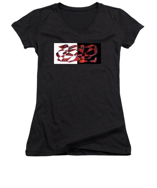 American Intellectual 6 Women's V-Neck T-Shirt (Junior Cut) by David Bridburg