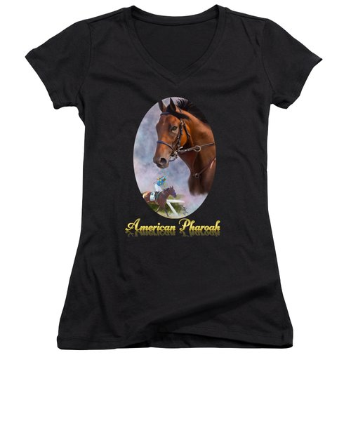 American Pharoah Framed Women's V-Neck