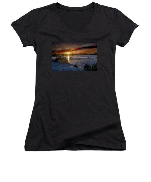 American Skies Women's V-Neck T-Shirt