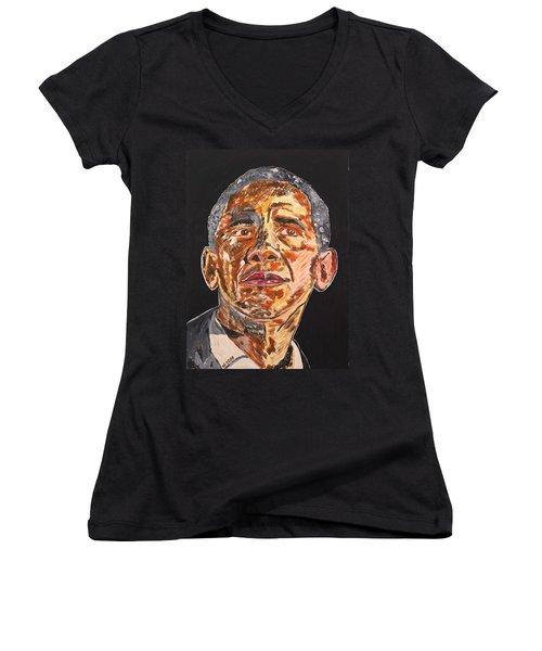 American Women's V-Neck T-Shirt (Junior Cut) by Valerie Ornstein