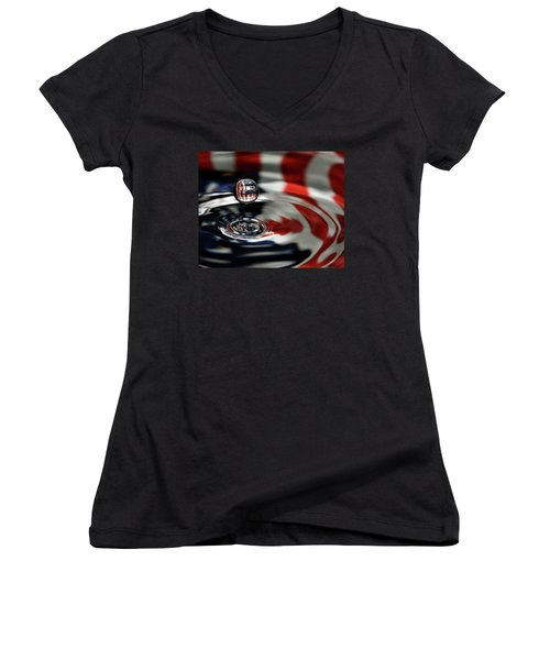 American Water Drop Women's V-Neck (Athletic Fit)