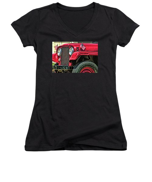 American Willys Women's V-Neck T-Shirt