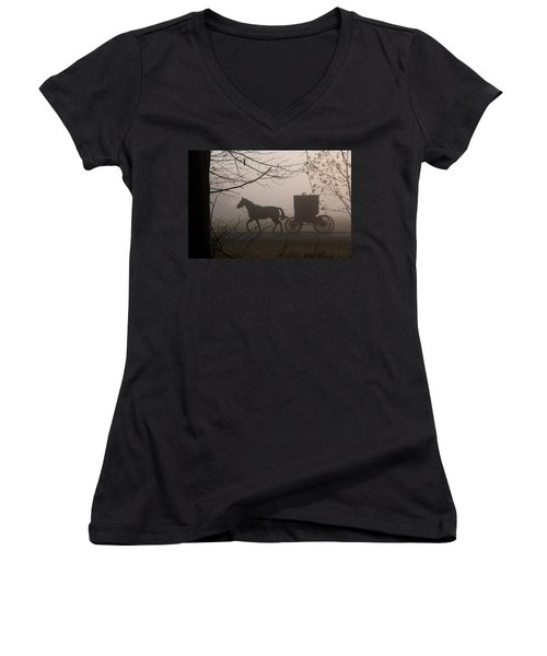 Amish Morning 1 Women's V-Neck T-Shirt