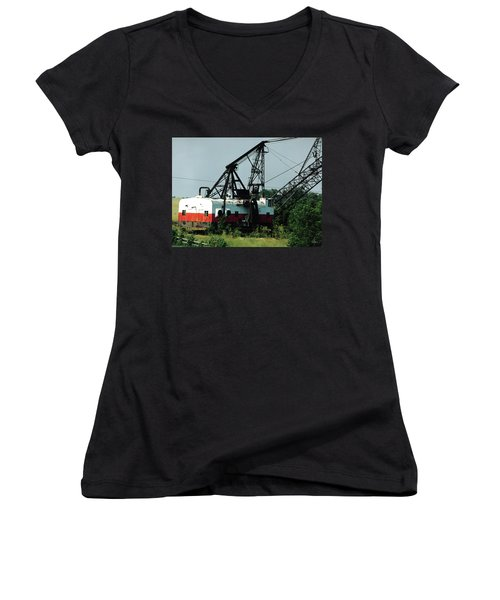 Abandoned Dragline Excavator In Amish Country Women's V-Neck
