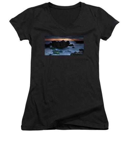 An Escape Women's V-Neck T-Shirt (Junior Cut) by Kym Clarke
