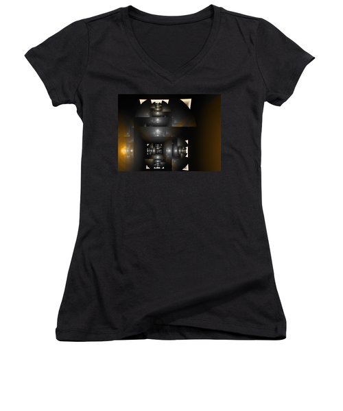 An Interior Space Abstract Women's V-Neck T-Shirt