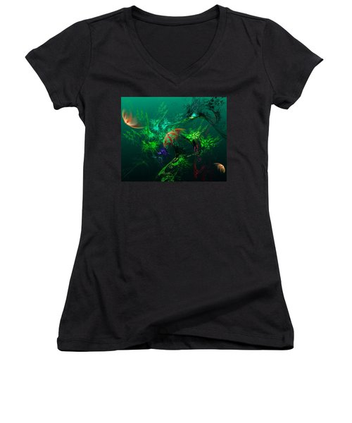 An Octopus's Garden Women's V-Neck (Athletic Fit)